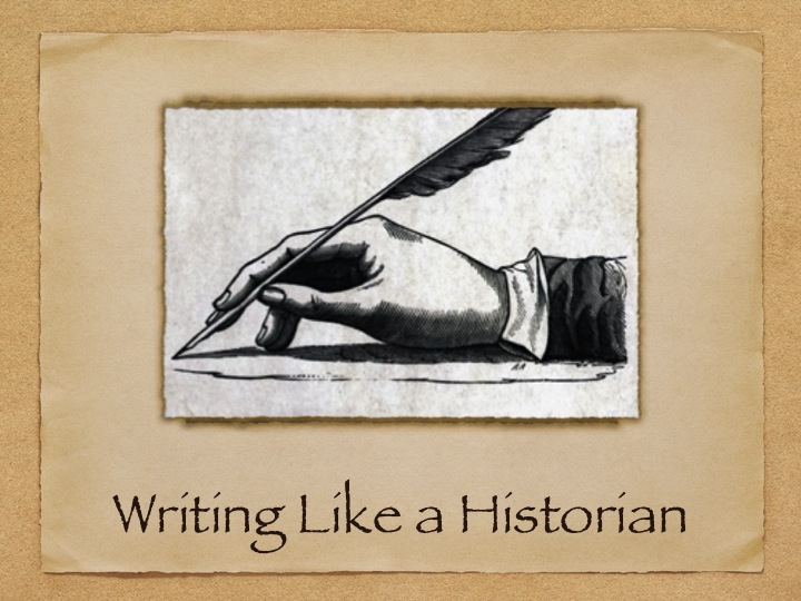 Writing as a historian?